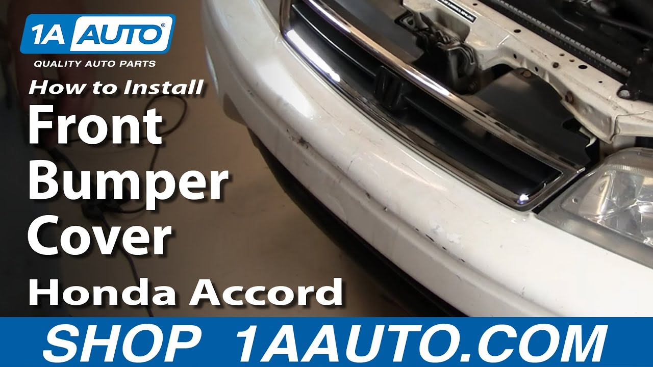 How To Install Replace Front Bumper Cover Honda Accord 94 ...