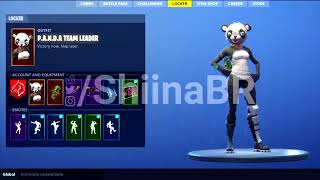 New Leaked PANDA TEAM LEADER SUSHI MASTER Skin Previews Fortnite Battle Royale