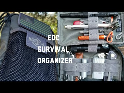 New Maxpedition Fatty Pocket Organizer - My EDC Survival Kit - October 2017