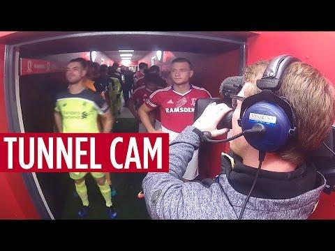 TUNNEL CAM | Middlesbrough v Liverpool