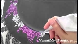 DIY Henna tray/mehndi thali..plateau henna