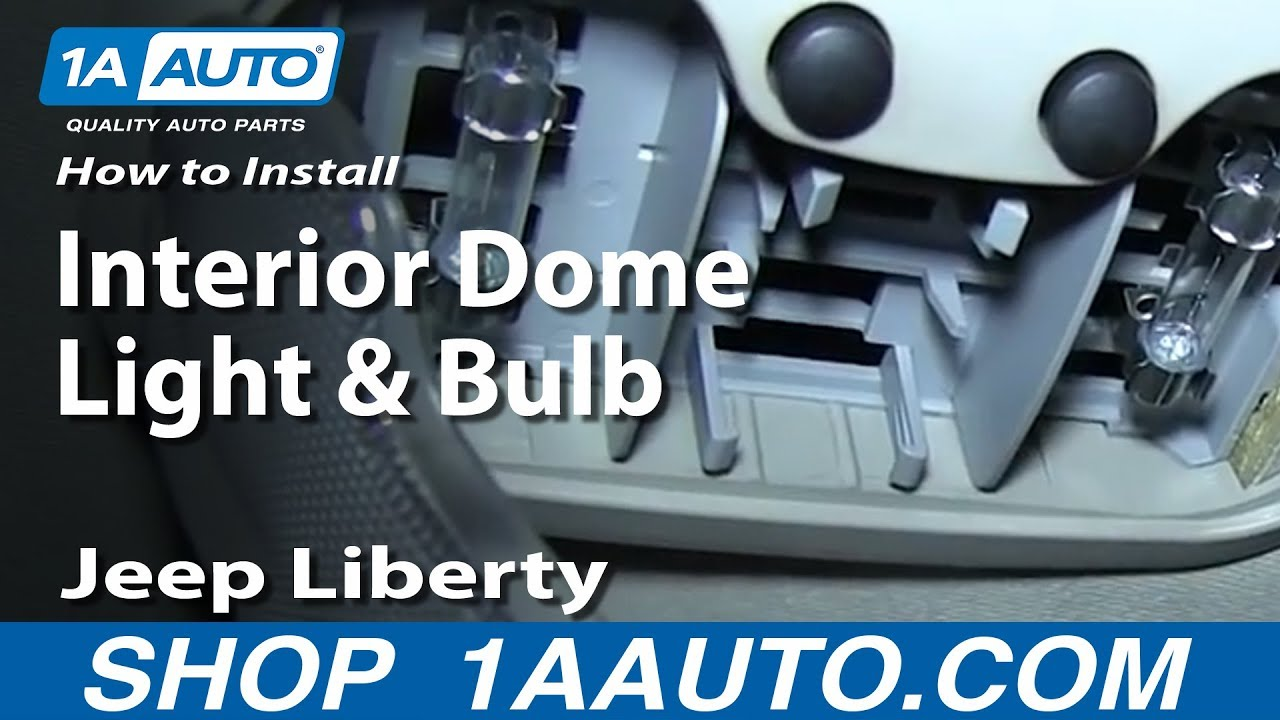 medium resolution of how to replace interior dome light and bulb 02 07 jeep liberty