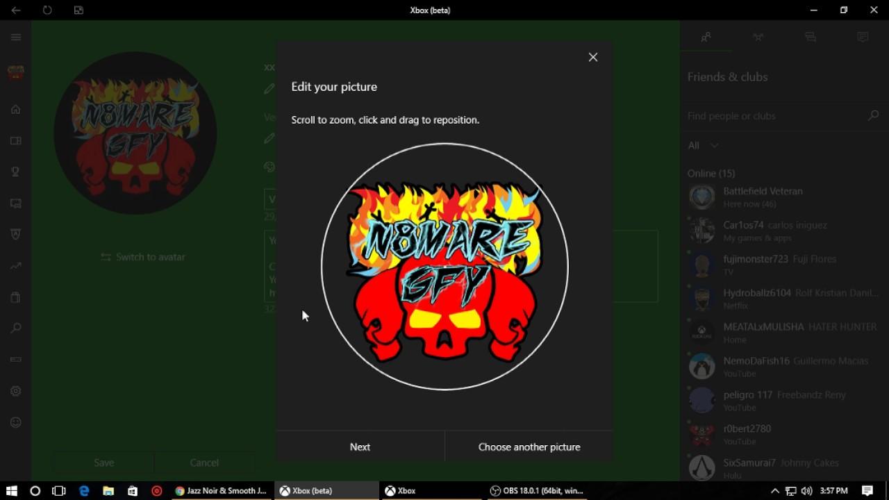 custom xbox one gamerpic xbox app youtube