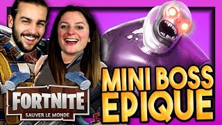 FIRST EPIC MINI BOSS! FORTNITE SAUVER THE WORLD DUO EN