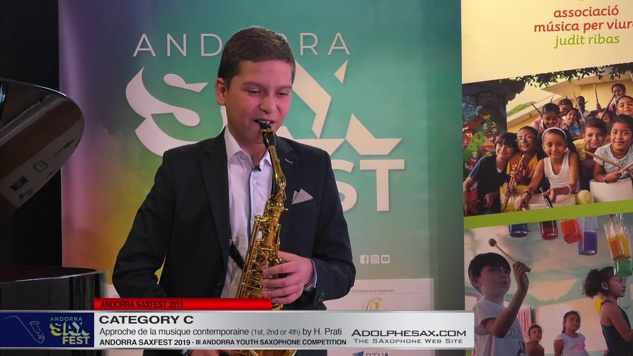 Andorra saxfest 2019 - Youth Competition -Volodymyr Panasiuk - Approche de la Musique Contemporaine