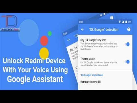 Voice Unlock - Redmi 4/4X 2018 ( How To Get It)