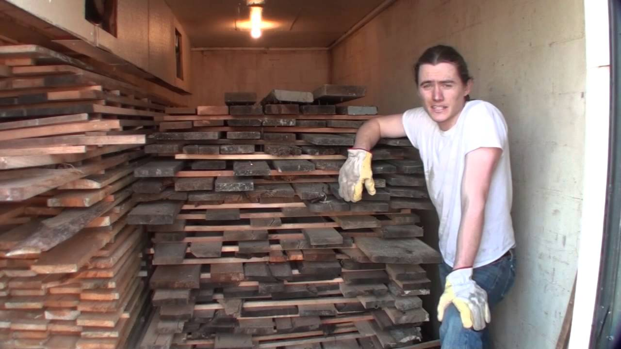 kiln drying reclaimed lumber for making furniture barn wood to farm table youtube. Black Bedroom Furniture Sets. Home Design Ideas