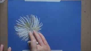 Как нарисовать пастелью быстрый этюд хризантем