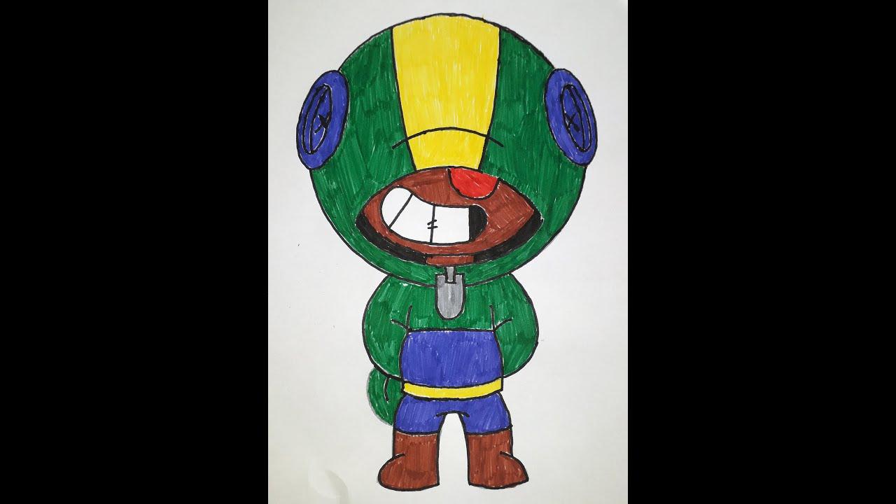 Как раскрасить Леона из Браво Старс / Coloring Leon Brawl ...
