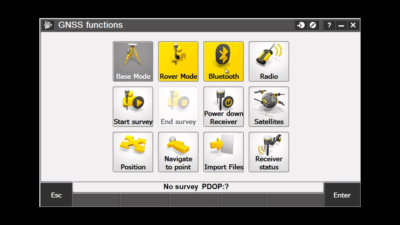 GNSS Functions Screen in Trimble Access by Jay Haskamp