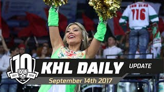 Daily KHL Update - September 14th, 2017 (English)