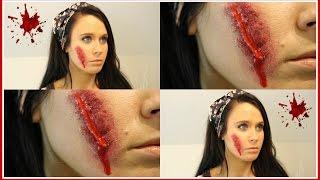♡ Gory Halloween Makeup Tutorial + Pumpkin Decorating! ♡ Thumbnail
