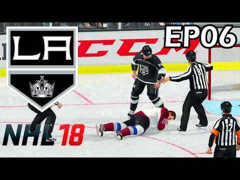 NHL 18 Los Angeles Kings Franchise - EP06 - Colorado Avalanche, Round 2 of 2018 Playoffs