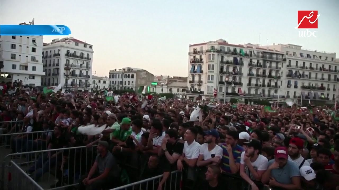 فرحة الجمهور الجزائري لصعود محاربي الصحراء لنهائي كأس الأمم الإفريقية
