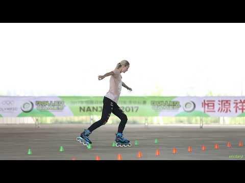 2017 Roller Games,Senior Women Classic Slalom 6th,Klaudia Hartmanis,Poland 成女花桩 6th 波兰