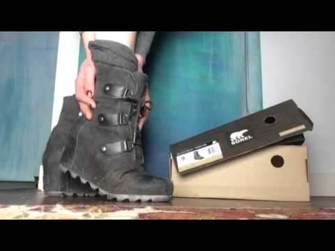 d7cf2178cab Sorel Joan or Arctic wedge mid boot review Ultra Violet Dove - YouTube