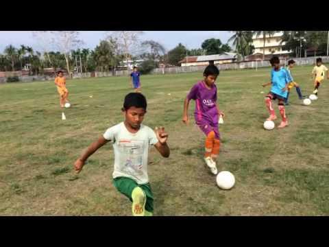 Coaching Under-12 boys Ball Control | Kokrajhar Football Academy