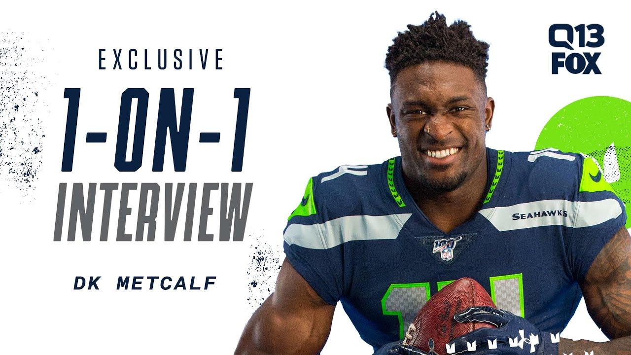 DK Metcalf Exclusive 1-on-1 Interview   Q13 FOX