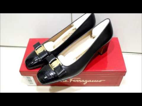 人吉市からフェラガモの靴 パンプスを買取り 熊本靴買取センター