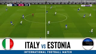 ITALY vs ESTONIA International Football Match 2020 eFootball