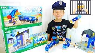 JOUETS -  Policier Swan met le Voleur en Prison !  - CIRCUIT POLICE BRIO WORLD