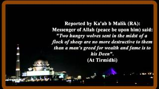 Hadith of the day : Greed