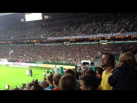 Abschiedsspiel Torsten Frings - Einlauf  der Werder Allstars