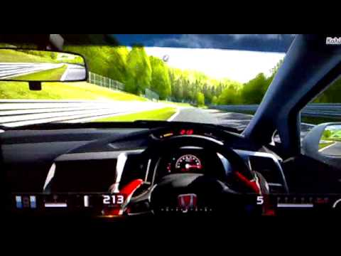 gran turismo 5 civic type r fd2 time attack nurburgring nordschleife youtube. Black Bedroom Furniture Sets. Home Design Ideas