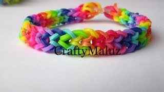 Repeat youtube video Pulsera De Gomitas / Rainbow Loom Iverted Fishtail