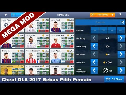 Cheat Dream League Soccer 2017 Mega Mod Unlock All Player++