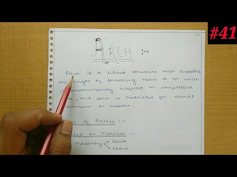 Structural analysis-2- What is arch and different types of arches  (In  Hindi)