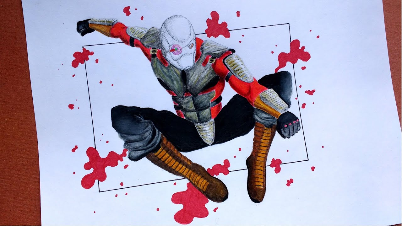DRAWING DEADSHOT/AMAZING SPEED DRAWING!! [Incredible Sketches]