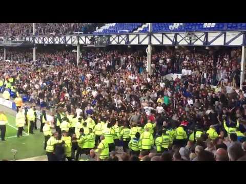 Hadjuk Split Fans Disgusting Crowed Trouble Vs Everton At Goodison Park