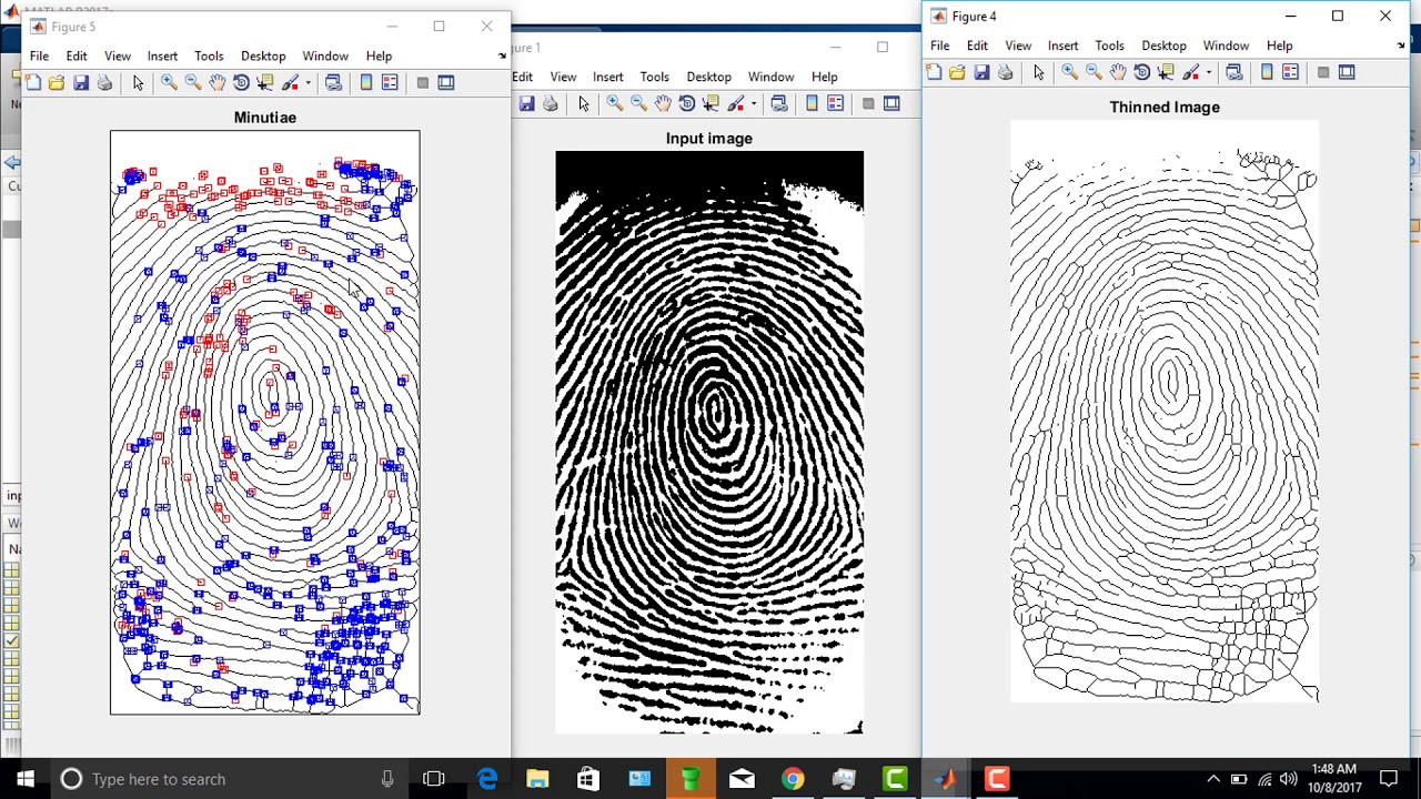 fingerprint recognition by using matlab Human fingerprints are rich in details called minutiae, which can be used as identification marks for fingerprint verification the goal of this project is to develop a complete system for fingerprint verification through extracting and matching minutiae.