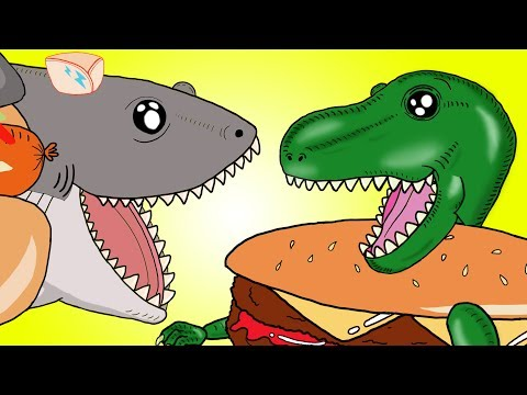 "Thumbnail: ""My Cute Shark Attack Cartoon #57 (Shark-Copter vs. Dino-Copter!!! BEST OF!!) kids cartoons!"
