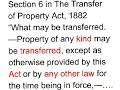 What may be transferred: Sec. 6 TPA