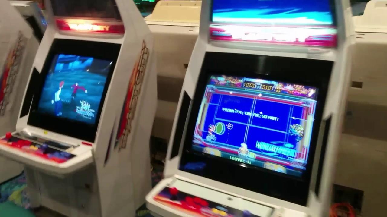 ACEN 2017 arcade candy cab setup - YouTube