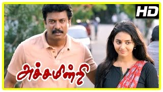 Achamindri Movie Scenes | Samuthirakani reveal Vidya's past | Vijay realsie Samuthirakani is police