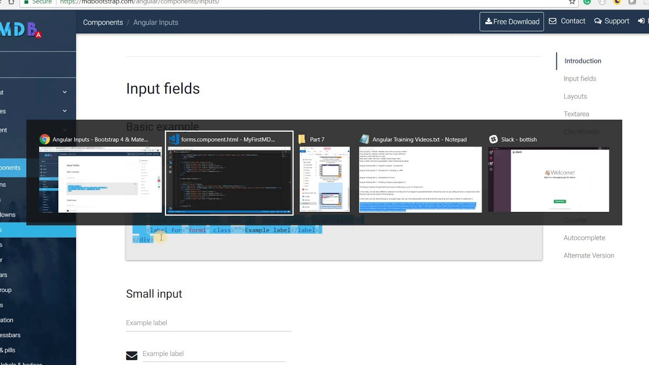 Angular Training Part 7 - Using Material Design Dropdowns and Form Inputs  in an Angular CLI Project