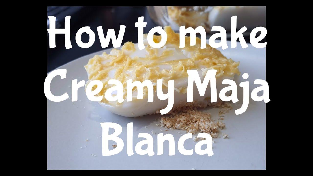 How to make Creamy Maja Blanca| Paano gumawa ng Maja Blanca by Mherl Paulino (English)