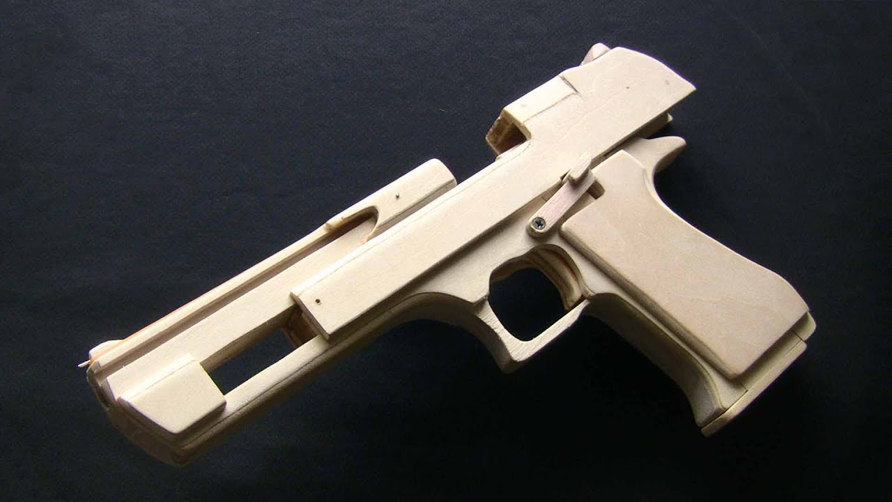 Shell Ejection Rubber Band Gun Desert Eagle Type Youtube