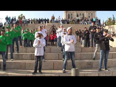 فيلم حملة القدس اولا من ميدان باب العامود | Jerusalem first initiative at Damascus Gate 2014