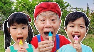 미니 유니와 맛있는 아이스크림 같이 먹어요~ Pororo Candy Ice cream pretend play - Romiyu Story 로미유 스토리
