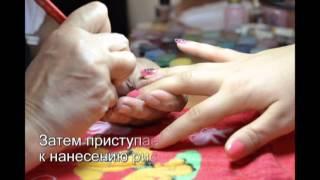 """Роспись ногтей """"Черная роза"""" - видеоурок"""