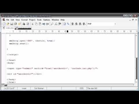 Beginner PHP Tutorial - 174 - Loading in file Contents to a DIV Part 3