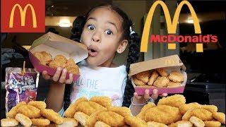 100 CHICKEN NUGGET CHALLENGE IN 10 MINUTES!!!!