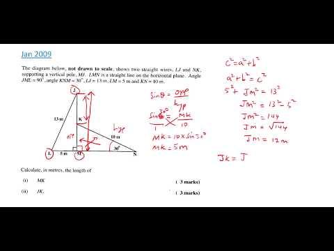 CSEC Maths - Trigonometry Worked Examples