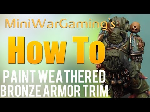 How To: Paint Weathered Bronze Armor Trim