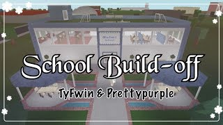 Bloxburg - School Build-off w/ TyFwin & Prettypurple