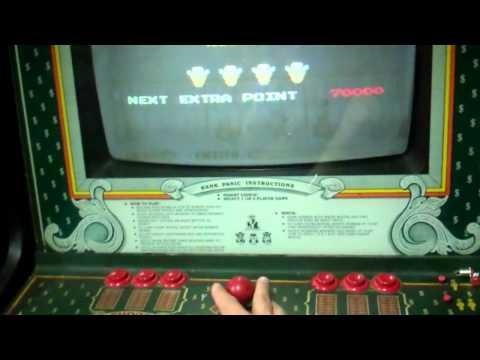 dedicated Sega Bank Panic arcade game